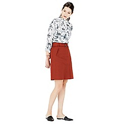 Warehouse - Compact cotton a-line skirt