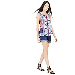 Warehouse - Bright aztec printed vest