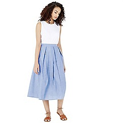 Warehouse - Full Cotton Midi Skirt