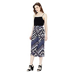 Warehouse - Patchwork print skirt