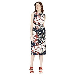 Warehouse - Floral print wrap dress