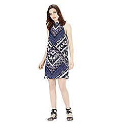 Warehouse - Patchwork print halter dress