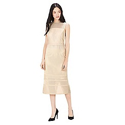 Warehouse - Formed linear column dress