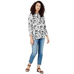 Warehouse - Monkey print blouse