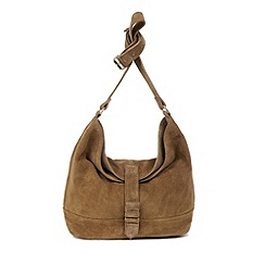 Warehouse - Suede Buckle Slouchy Bag