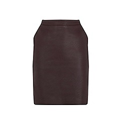 Warehouse - Faux Leather Clean Skirt