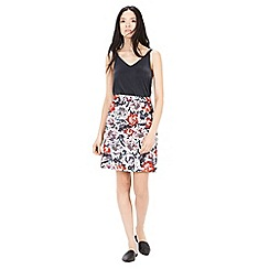 Warehouse - Floral print pelmet skirt