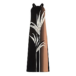 Warehouse - Palm print pinafore dress