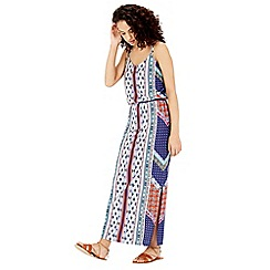 Warehouse - Bright aztec midi dress