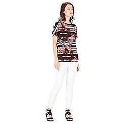 Warehouse - Palm stripe print tee