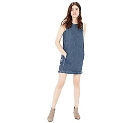 Warehouse - Side Button Denim Dress