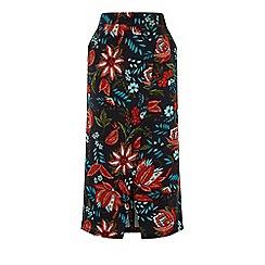Warehouse - Botanical Drawn Floral Skirt