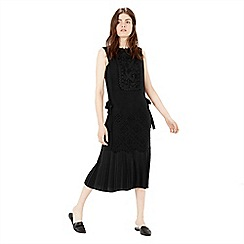 Warehouse - Lace Tabard Dress