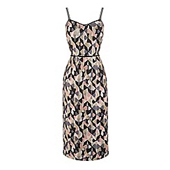 Warehouse - Diamond Ikat Strappy Midi Dress