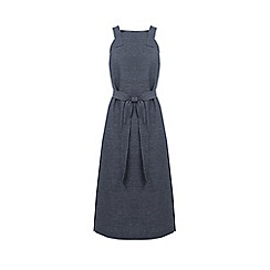 Warehouse - Linen Mix Pinny Dress