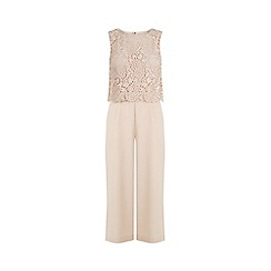 Warehouse - Sleeveless Lace Top Jumpsuit