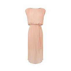 Warehouse - Pleated Curved Hem Dress