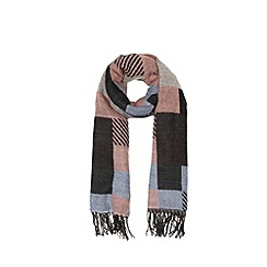 Warehouse - Mixed Check Blanket Scarf