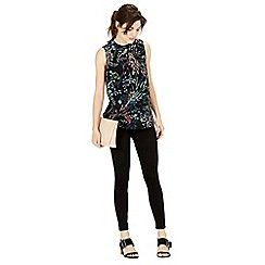 Warehouse - Meadow Floral Woven Front Top