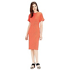 Warehouse - Squiggle Print Midi Dress