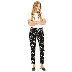Warehouse - Spaced Floral Slim Trousers