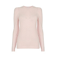 Warehouse - Pointelle Puff Sleeve Jumper