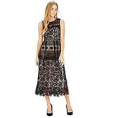 Warehouse - Multi Lace Midi Dress