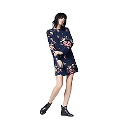 Warehouse - Painted Floral Shift Dress