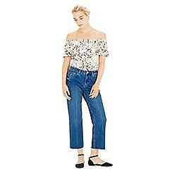 Warehouse - Trailing Floral Bardot Top
