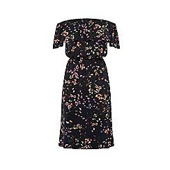 Warehouse - Trailing Floral Bardot Dress