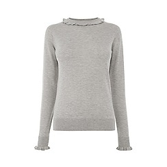 Warehouse - Frill Neck And Cuff Jumper