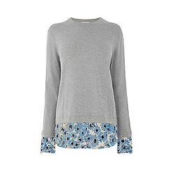 Warehouse - Daisy Print Hybrid Jumper