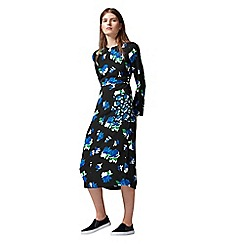 Warehouse - Ink Rose Midi Dress