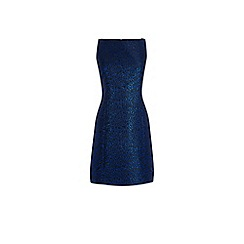 Warehouse - Disco Leopard Jacquard Dress