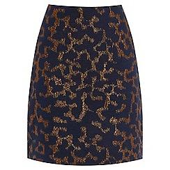 Warehouse - Disco Leopard Jacquard Skirt