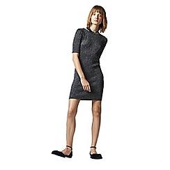 Warehouse - Sparkle Split Neck Dress