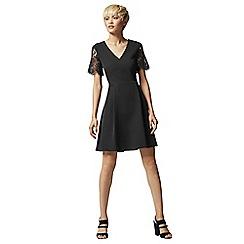 Warehouse - Lace Sleeve Dress