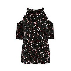 Warehouse - Confetti Spot Cold Shoulder Top