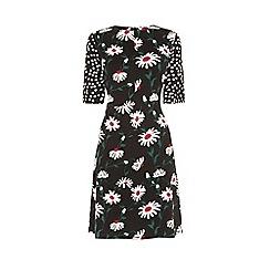 Warehouse - Pop Daisy Spot Mix Dress