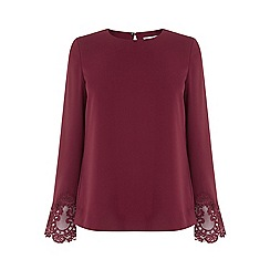 Warehouse - Lace Cuff Top