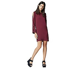 Warehouse - Diamante Button Sleeve Dress