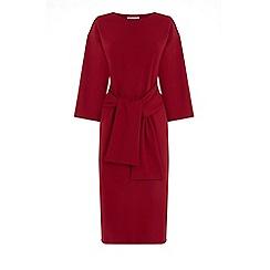 Warehouse - Tie Waist Crepe Dress