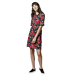 Warehouse - Rose Printed Ponte Dress