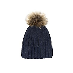 Warehouse - Faux Fur Ribbed Hat