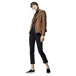 Warehouse - Suedette biker jacket