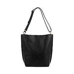 Warehouse - Bonded hobo shopper bag
