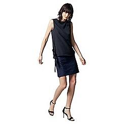 Warehouse - Zebra jacquard skirt