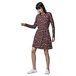 Warehouse - Moth Print T-Shirt Dress