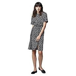 Warehouse - Zig zag dress