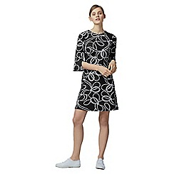 Warehouse - Rope print ponte dress